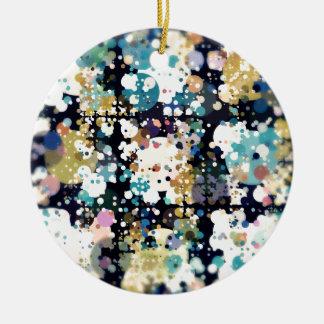 Strukturelle Kreise abstrakt Rundes Keramik Ornament