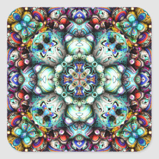 Strukturelle Oberflächen von Symmetrie Quadratischer Aufkleber