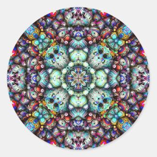Strukturelle Oberflächen von Symmetrie Runder Aufkleber