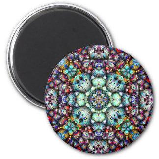 Strukturelle Oberflächen von Symmetrie Runder Magnet 5,7 Cm
