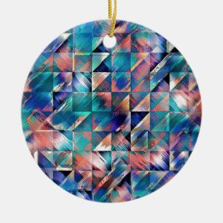Strukturelle Reflexionen des Türkises Keramik Ornament