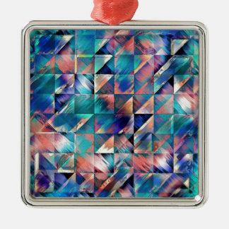 Strukturelle Reflexionen des Türkises Silbernes Ornament
