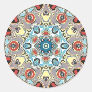Strukturelles Kaleidoskop abstrakt Runder Aufkleber
