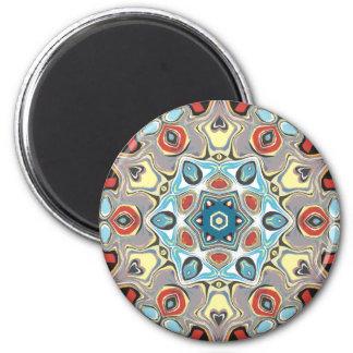 Strukturelles Kaleidoskop abstrakt Runder Magnet 5,7 Cm