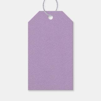 Strukturierte hellpurpurne Farbe Geschenkanhänger
