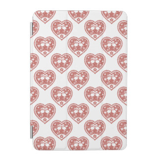 Strukturierte Herz-Flamingo-Liebe iPad Mini Hülle