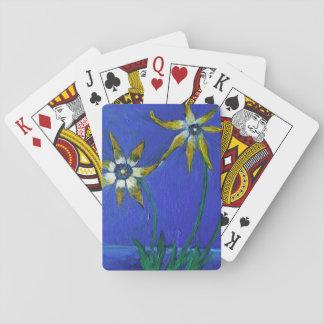 Strukturierte Kunst der Blume klassische Spielkarten