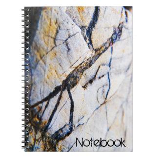 Strukturierte Steinoberfläche Spiral Notizblock