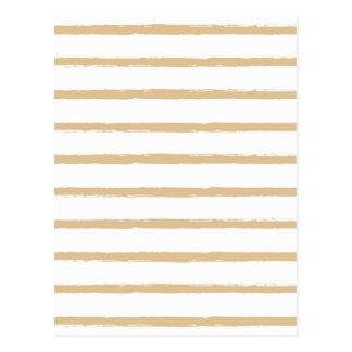 Strukturierte Streifen-beige weiße raue Linien Postkarte