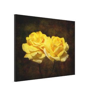 Strukturierter gelber Rosen-Leinwand-Druck Leinwanddruck