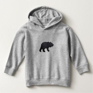 Strukturierter grauer Bär Hoodie