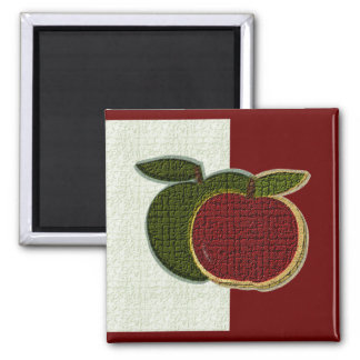 Strukturierter Magnet der Apfel-(Minze/cranberryi) Quadratischer Magnet
