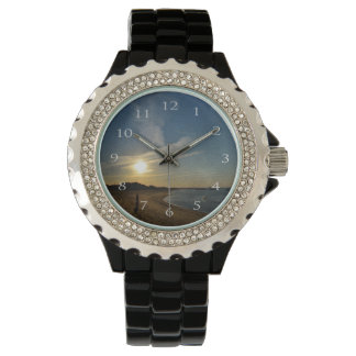 Strukturierter Sonnenuntergang durch Shirley Armbanduhr