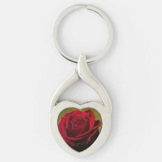 Strukturiertes Rosen-Herz-Schlüsselkette Schlüsselanhänger