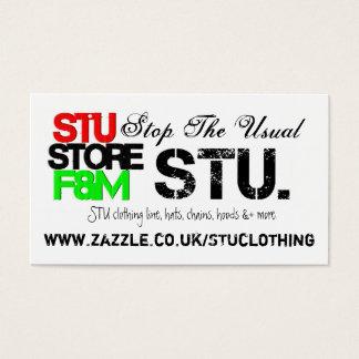 STU. Speichern Sie die Förderung der Visitenkarten