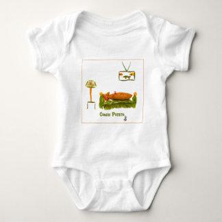 Stubenhocker mit Grenze Baby Strampler