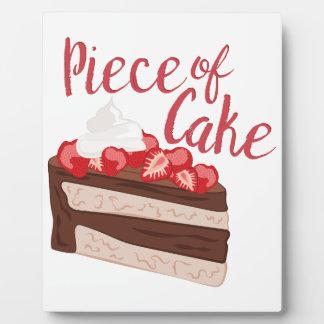 Stück des Kuchens Fotoplatte