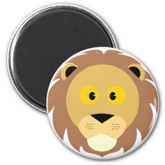 Stück Löwe Runder Magnet 5,1 Cm