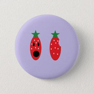 Stückchenerdbeere Runder Button 5,7 Cm