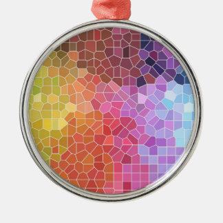 Stücke Farbe Silbernes Ornament