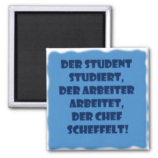 Student, Arbeiter und Chef Quadratischer Magnet