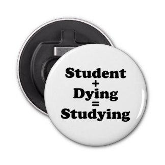 Student plus das sterbende runder flaschenöffner
