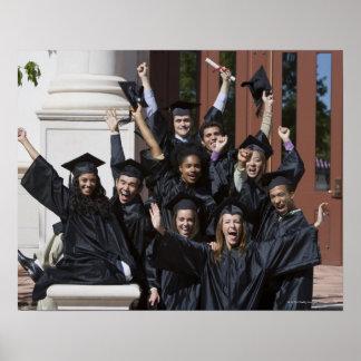Studenten am Abschlusstag Poster