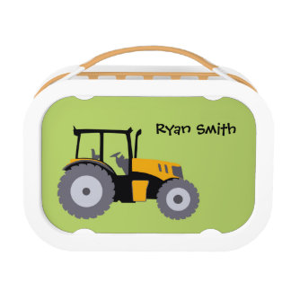 Studenten-Brotdose des Traktors grüne Brotdose
