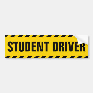 Studenten-Fahrer-Warnung Autoaufkleber