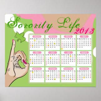 Studentinnenverbindung-Leben-Kalender Poster