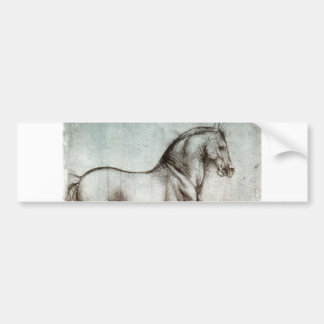 Studie der Pferde - Leonardo da Vinci Autoaufkleber