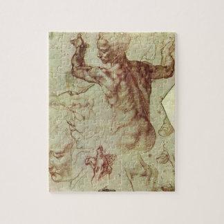 Studie des libyschen Sibyl durch Michelangelo Puzzle