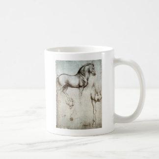 Studie des Pferds Kaffeetasse