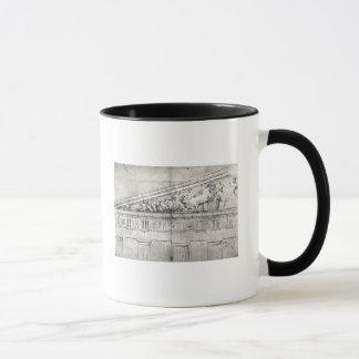 Studie eines Giebels vom Parthenon Tasse