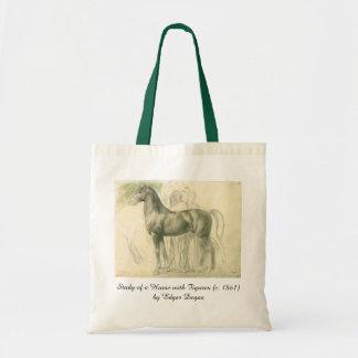 Studie eines Pferds durch Edgar entgasen, Vintage Budget Stoffbeutel