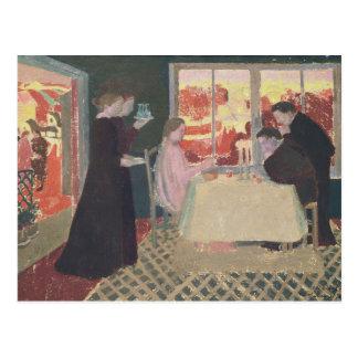 Studie für das Abendessen bei Emmaus Postkarte