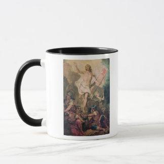 Studie für die Auferstehung für eine Malerei Tasse