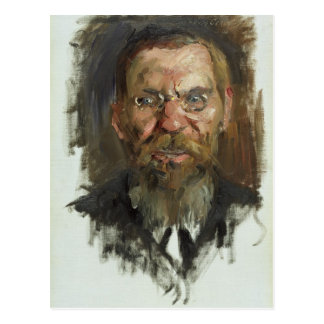 Studie für ein Porträt von Professor Dr. Eduard Postkarte