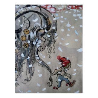 Studie für Julbacken (Weihnachten-Ziege) 1911 Postkarte