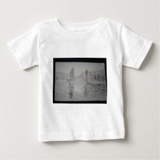 Studie für Reflexion durch Hirsch Baby T-shirt