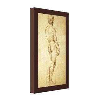 Studie von Michelangelos David-Statue durch Leinwanddruck
