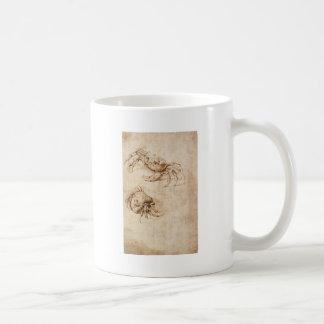 Studien der Krabben durch Leonardo da Vinci Kaffeetasse