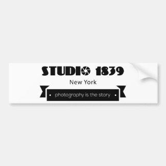 Studio-Fotografie 1839 ist die Geschichte Autoaufkleber