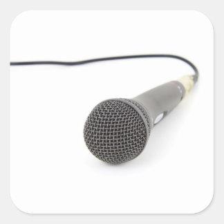 Studio-Mikrofon Quadratischer Aufkleber