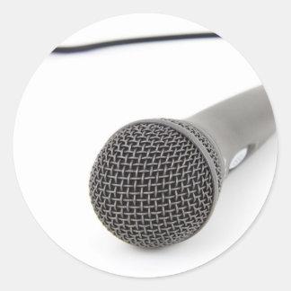 Studio-Mikrofon Runder Aufkleber
