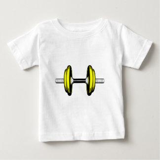 Stummer blonder Dumbbell Baby T-shirt