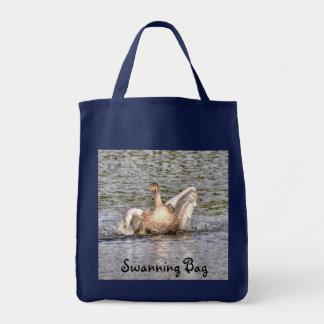 Stummer Schwan-Tier-Wasservogel-Foto Tragetasche
