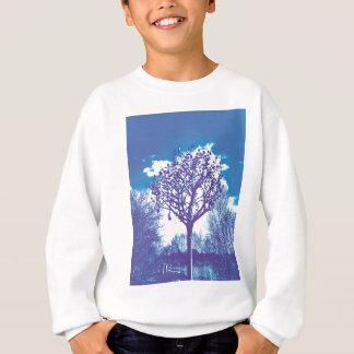 stumpfes Blau des Metallbaums Sweatshirt