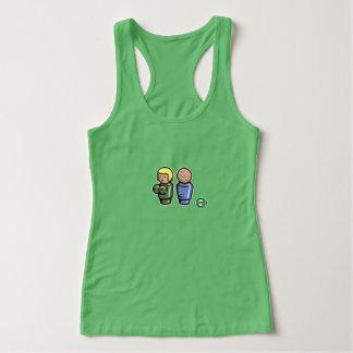 Stumpfes Mädchen-kleine Leute geweckt T Shirts