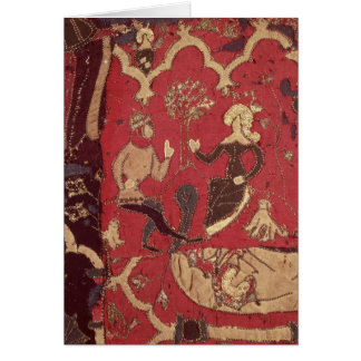 Stumpwork, das Tristan und Isolde darstellt Karte